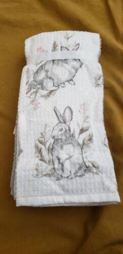 Details about  /CASABA Kitchen Towels Set Of 5 Rabbit Print