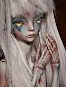 1-4-BJD-Girl-Doll-Bare-Unpainted-Doll-Skeletons-Helmet-without-Any-Makeup