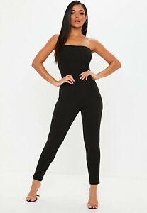 Missguided-black-buckle-back-jumpsuit-size-UK-10-EU-38-US-6