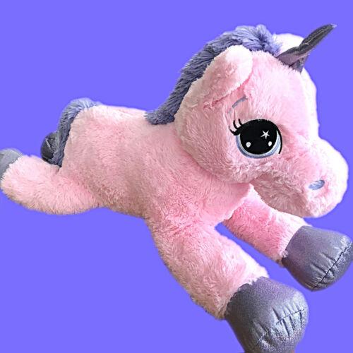 Soft Giant Pink Unicorn Plush Girls Stuffed Large Cuddly Animal Pony 80cm UK