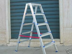 Scale alluminio scala doppia salita h 99 cm scalino 4 gradini piano