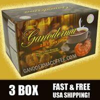 Ganoderma 2 In 1 Black Coffee - 3 Box(60 Ct) - Free Shipping