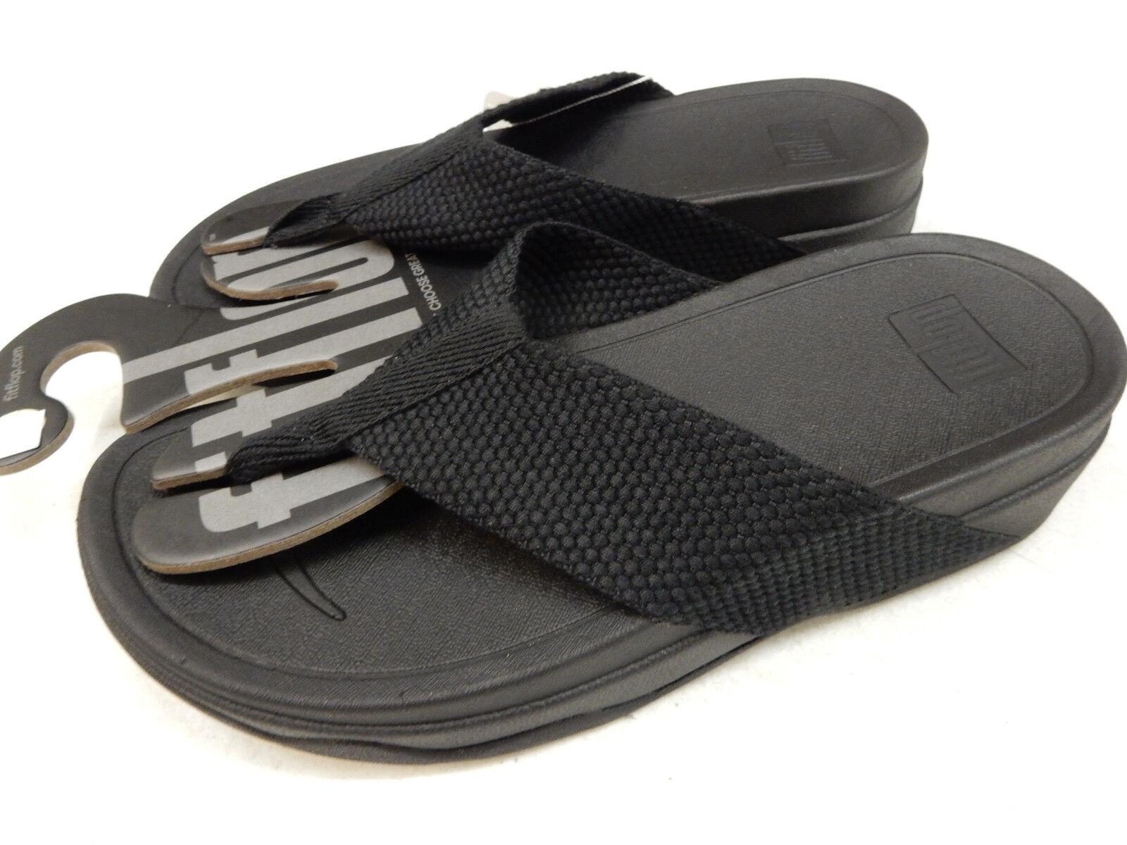 FITFLOP Damenschuhe SANDALS SURFA BLACK SIZE 9