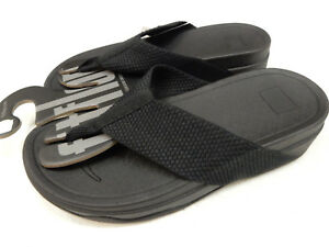d6b4718808b0b Image is loading FITFLOP-WOMENS-SANDALS-SURFA-BLACK-SIZE-10