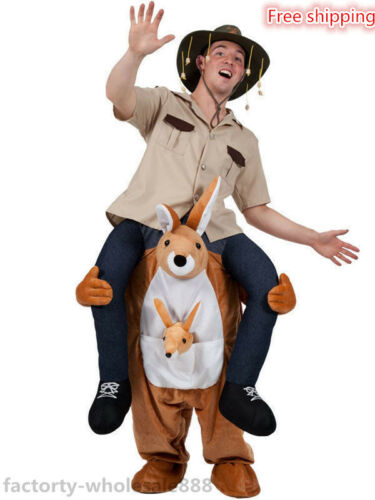 2019 Hot Kangaroo Ride On Mascot Costume Cosplay Fancy Dress Australian