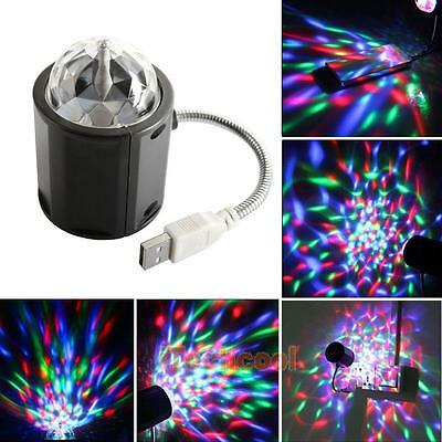 4W USB LED Rotating Stage Light Lamp DJ Disco/Party/Bar/KTV/Club Effect Lights