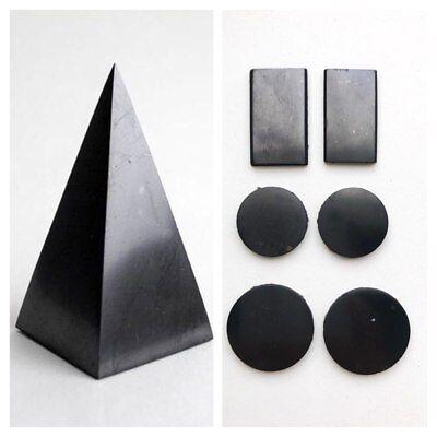 Shungite Pyramid 50 EMF Protection Shungite Plate for Phone Sticker 5 pcs