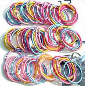 100pcs-lot-Kids-Girl-Elastic-Rope-Hair-Ties-Variety-Ponytail-Holder-Hairband
