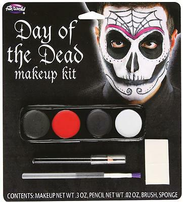 MALE MEXICOS DAY OF THE DEAD SKELETON FESTIVAL COSTUME MAKEUP FACEPAINT FW5618M
