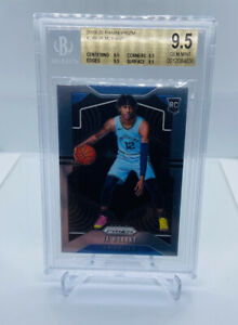 2019-20-PANINI-PRIZM-JA-MORANT-BASE-249-ROOKIE-RC-BGS-9-5-TRUE-GEM-PSA-10-ZION