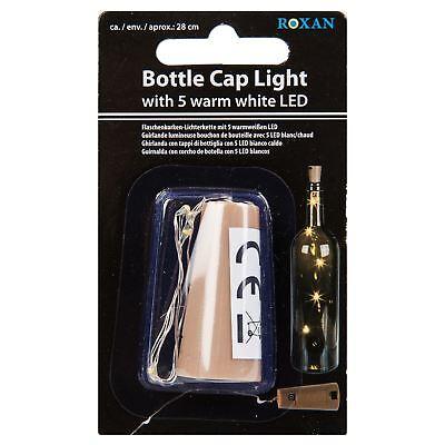 Bottiglia Di Vino Tappo Lampada 5 Led Bianchi Fata Decorazione Tavola Casa Celebrazione- In Corto Rifornimento