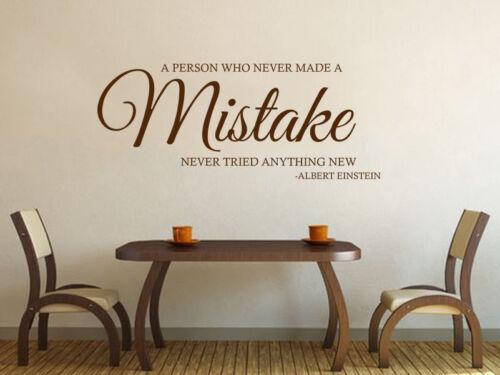 Albert Einstein Quote Wall Art Sticker Vinyl Decal Inspirational Quote