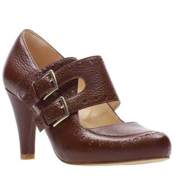 Clarks Dalia purple Ladies Ladies Ladies Tan Leather High Heeled shoes in UK6.5 (EU40   US9M) 028e6c