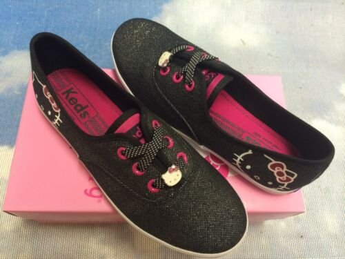 Keds Hello Kitty Champion K Lace Oxford Sneakers Kid Size 2.5 to 3.5// Women 5.5