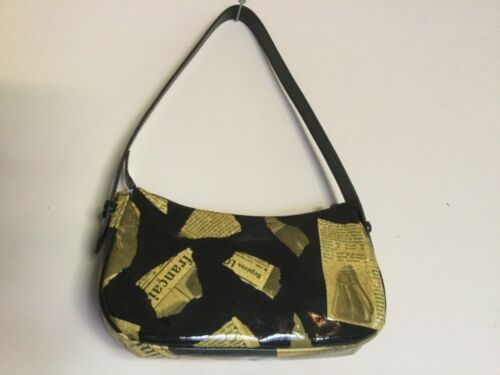 LONGCHAMP Newspaper Print Shoulder Bag Handbag
