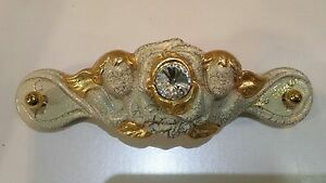Actif Maniglia Grande Angeli Via Veneto Cristalli Ceramica Oro Arredo Casa Dissipation Rapide De La Chaleur
