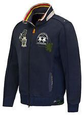 Sale%La Martina - Herren Sweatjacke - Blau -T-Shirt - Poloshirt Hemd-Size:M