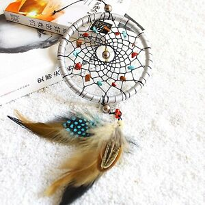 Dream-Catcher-with-Feathers-Bead-Car-Wall-Hanging-Decoration-Ornament-Craft-Gift