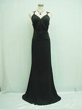 Cherlone Black Ballgown Long Bridesmaid Formal Wedding/Evening Dress Size 12