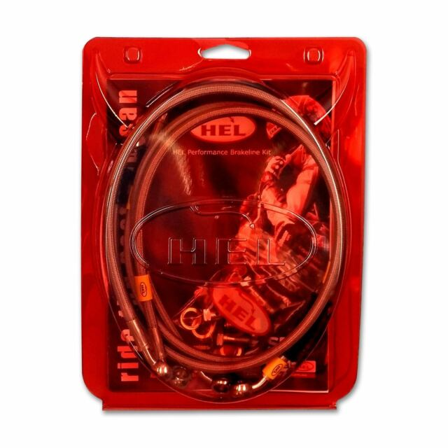 HBK2850 FIT HEL Stainless Brake Hoses F&R OEM Honda RS125 2009>