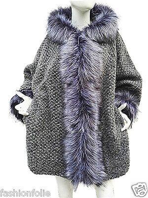 Manteau Femme Veste Laine Grande Taille 48/50/52/54/56 Fourrure Chaud Ample Top Ulteriori Sorprese