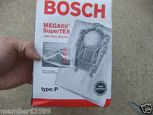 Bosch Part 462544 Genuine Type G MEGAfilt SuperTEX Vacuum Bag