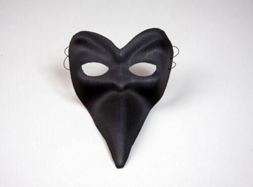 FM Textil Schnabelmaske in schwarz zu Karneval Fasching Halloween