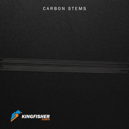 Haute qualité en fibre de carbone tiges pour faire la pêche Flotteurs Pack de 15 200 mm 1 mm