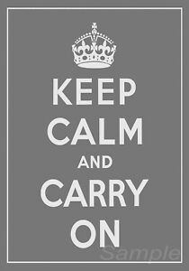 KC07 KEEP CALM AND CARRY ON A4 POSTER PRINT