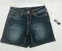 NWT Women's SEVEN 7 Short Summer Shorts Size 6 Buckley Cotton Blend Blue $49