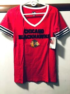 Chicago-Blackhawks-Ladies-Tee-Top-Brand-New-With-Tags-Excellent-Quality-NHL