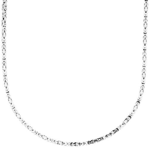 BYZANTIN 2x2mm Sterling 925er Silber Königskette