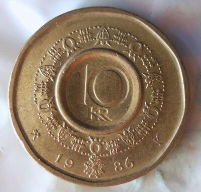 Excellent Vintage Coin BARGAIN BIN #138 1983 NORWAY 10 KRONER