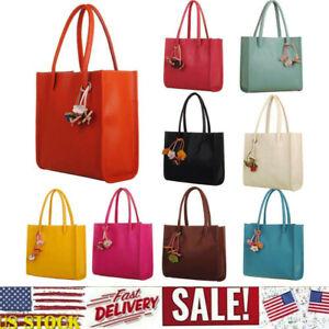 Fashion-Women-Girls-Handbags-Leather-Shoulder-Bag-Candy-Color-Flowers-Totes-k