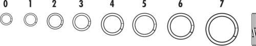 Bass Fishing Terminal Tackle Select Size /& Pound Test VMC Split Ring