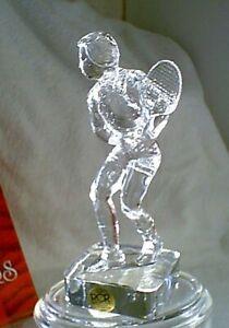 RCR-Beautiful-Lead-Crystal-Man-Male-TENNIS-PLAYER-NEW-NIB-Made-in-Italy