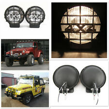 2x 55W White Off Road Roof Bumper Halogen Driving Fog Lights Spot Lamp For Jeep
