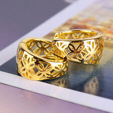Authentic Fashion 14k Yellow Gold Filled Openwork Womens small Ear Hoop Earrings