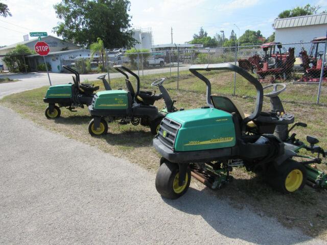 Lot Of 3 John Deere 2500a Greens Mowers 1 With Reels