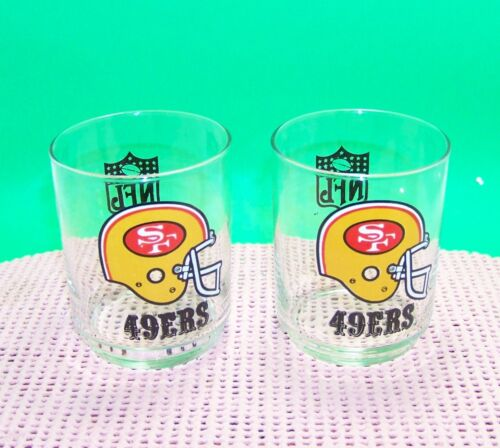 49ERs small tumblers 10 ounce drinking glasses