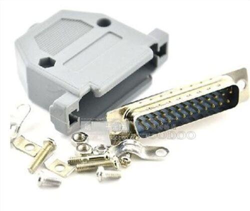2Pcs serie DB25 25-Pin Montaje Enchufe De Soldadura Conector Jack Macho con cáscara IC