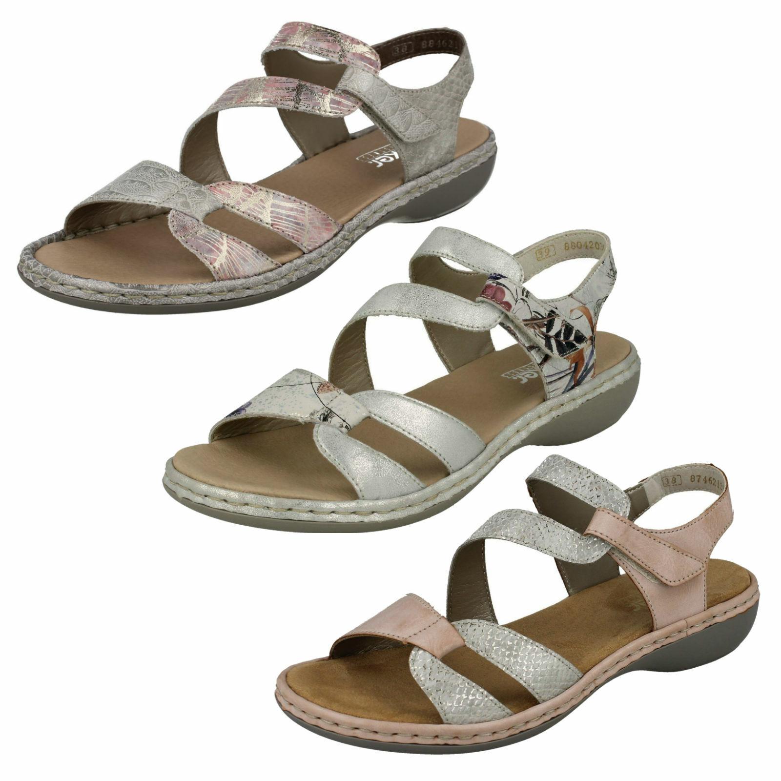 Rieker Womens Peep Toe Strappy Strap Leisure Soft Beach Summer Sandals