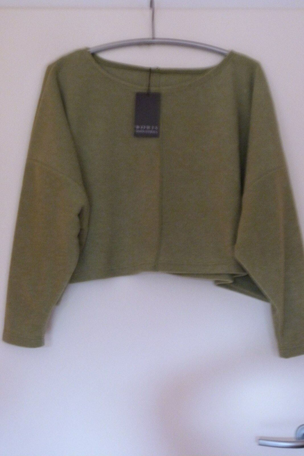 Boris Industries sweat shirt in pile pile pile 46-54 CE Nuovo  verde kastig 92 cm Lagenlook 8643c5