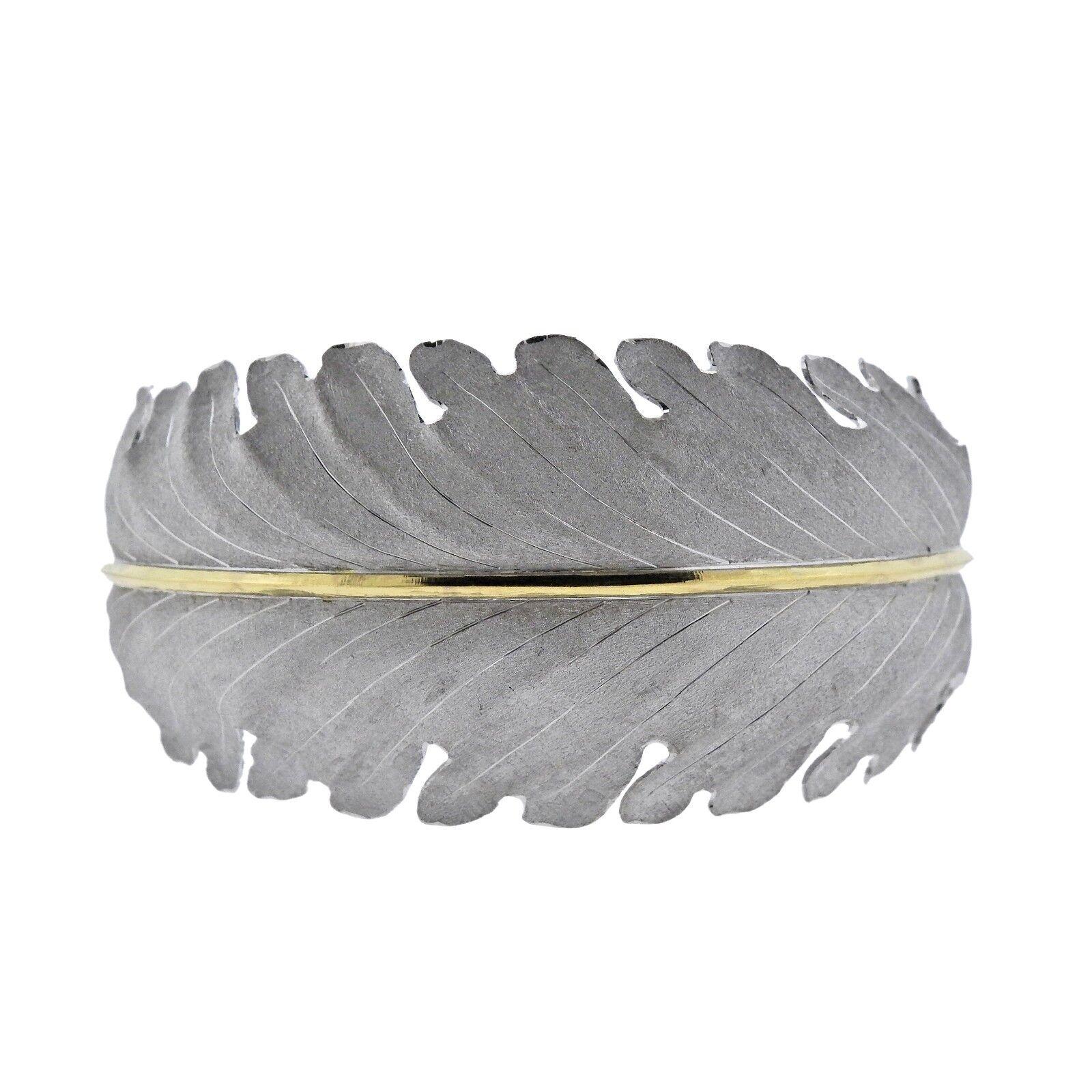 Buccellati gold Wide Leaf Bracelet