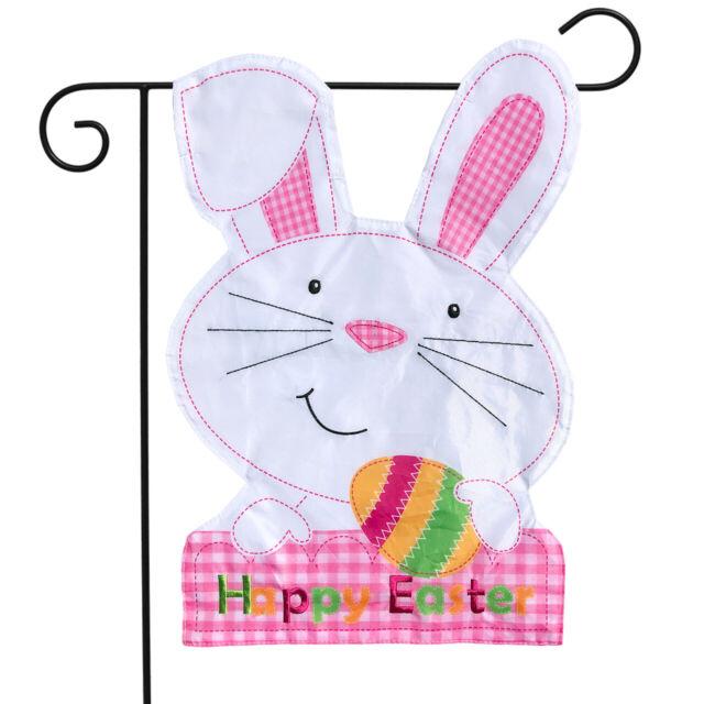 "Easter Bunny Find Egg Garden Flag Home Decor Yard Banner 28x40/""//12.5x18/"""
