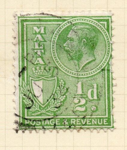 Malta 1930 Early Issue Fine Used 1/2d. 029188