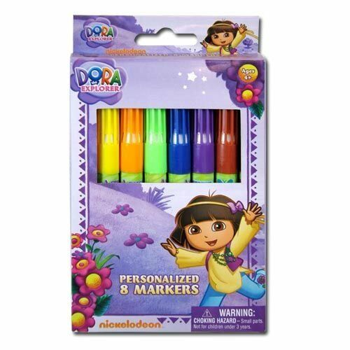 Nickelodeon-Dora-The-Explorer-8pk-Juicy-Marker-in-Window-Box
