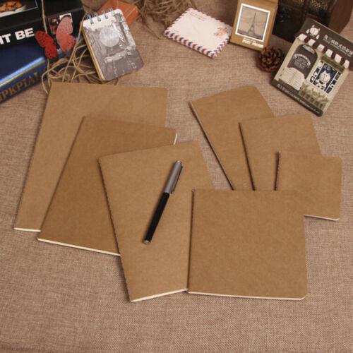 Kraftpapier Notizbuch leere Notizblock Buch Vintage Journal Notizbücher Top