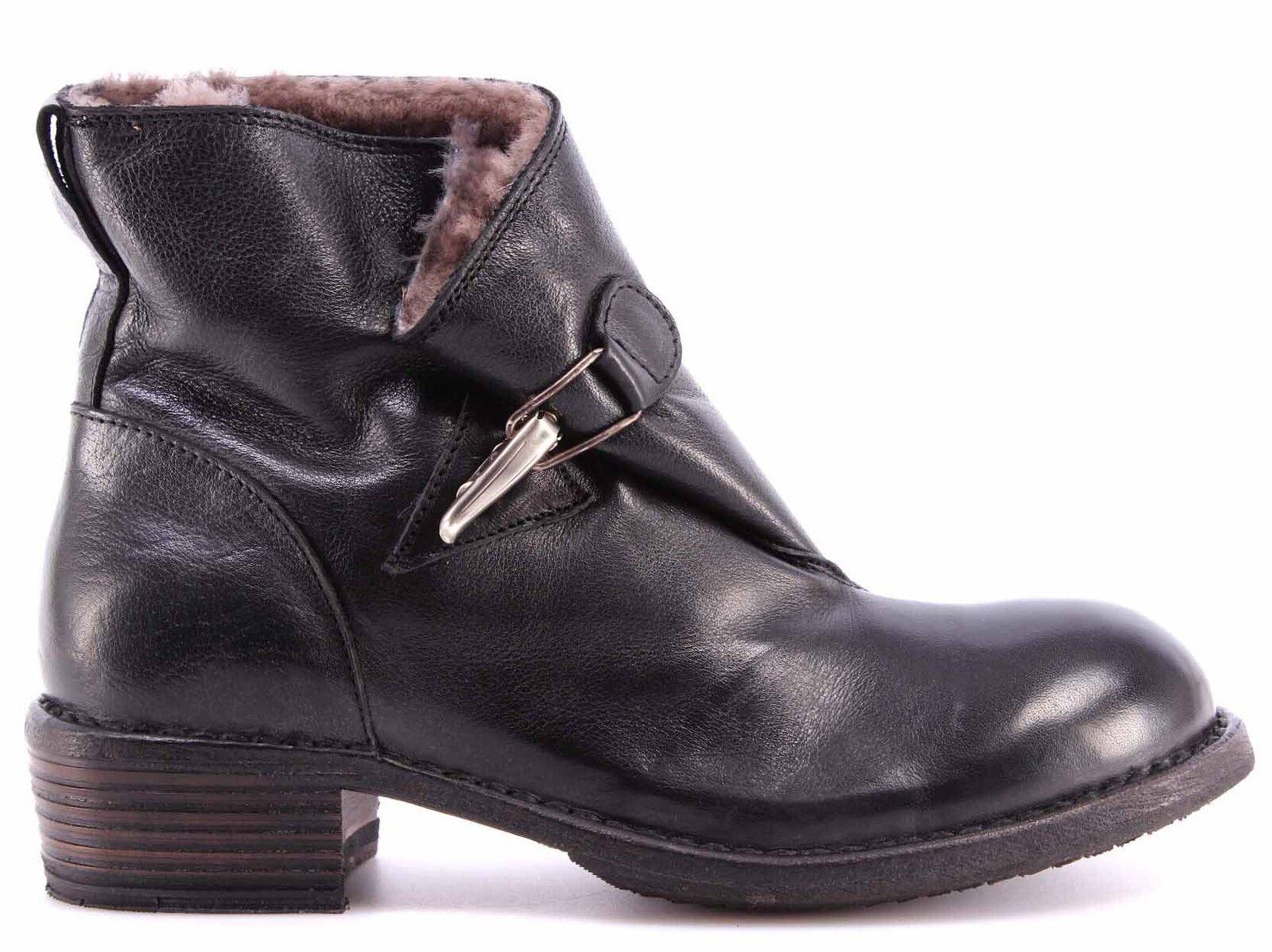 Para mujeres Zapatos Zapatos Zapatos Botines MOMA 78501-4A Cusna negro Negro Piel Vintage Made   mejor opcion