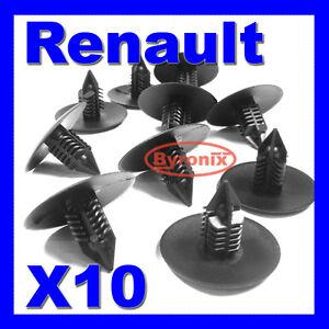 RENAULT CAR WHEEL ARCH LINER /& SPLASH GUARD FIR TREE 35MM CLIPS